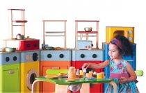 Kuchnia, zabawki z drewna
