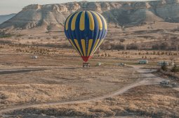 balon nad ziemią