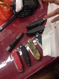zestaw noży składanych